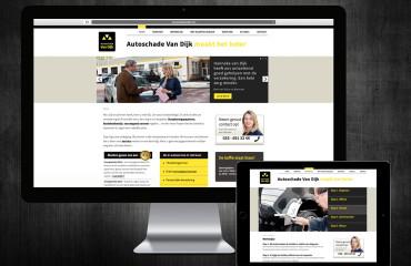 autoschade-van-dijk-website-displays
